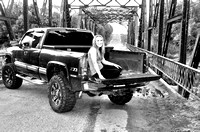 Oklahoma Senior Pictures by John Bishop Photography, Girl with Truck