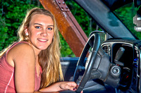 Oklahoma Senior Portraits by John Bishop Photography, Girl with Truck